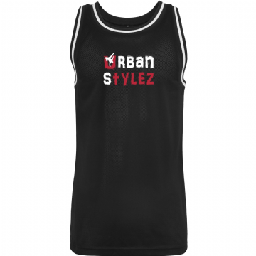 Mesh Tank Top with Urban Stylez wording on chest